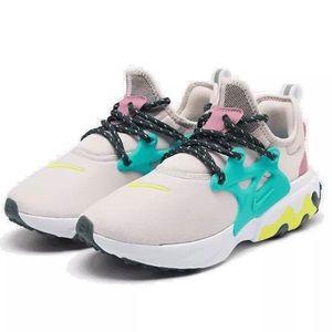 Women's Nike React Presto Running Shoes Rose/Lemon